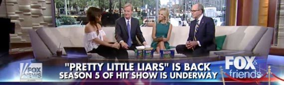 Lucy Hale appears on Fox and Friends